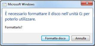 formattare hard disk esterno