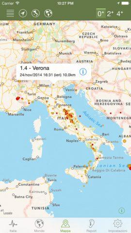 App per rilevare il terremoto