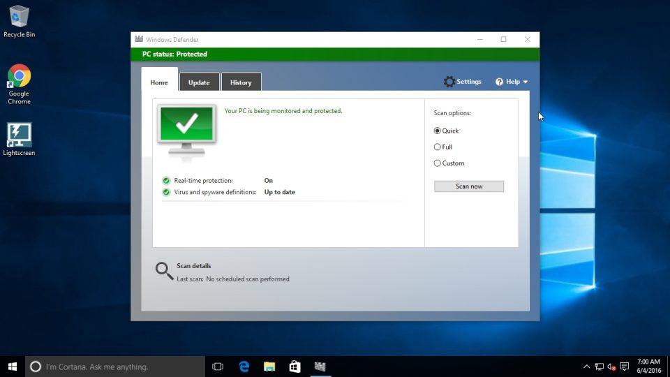 Come disinstallare Windows Defender