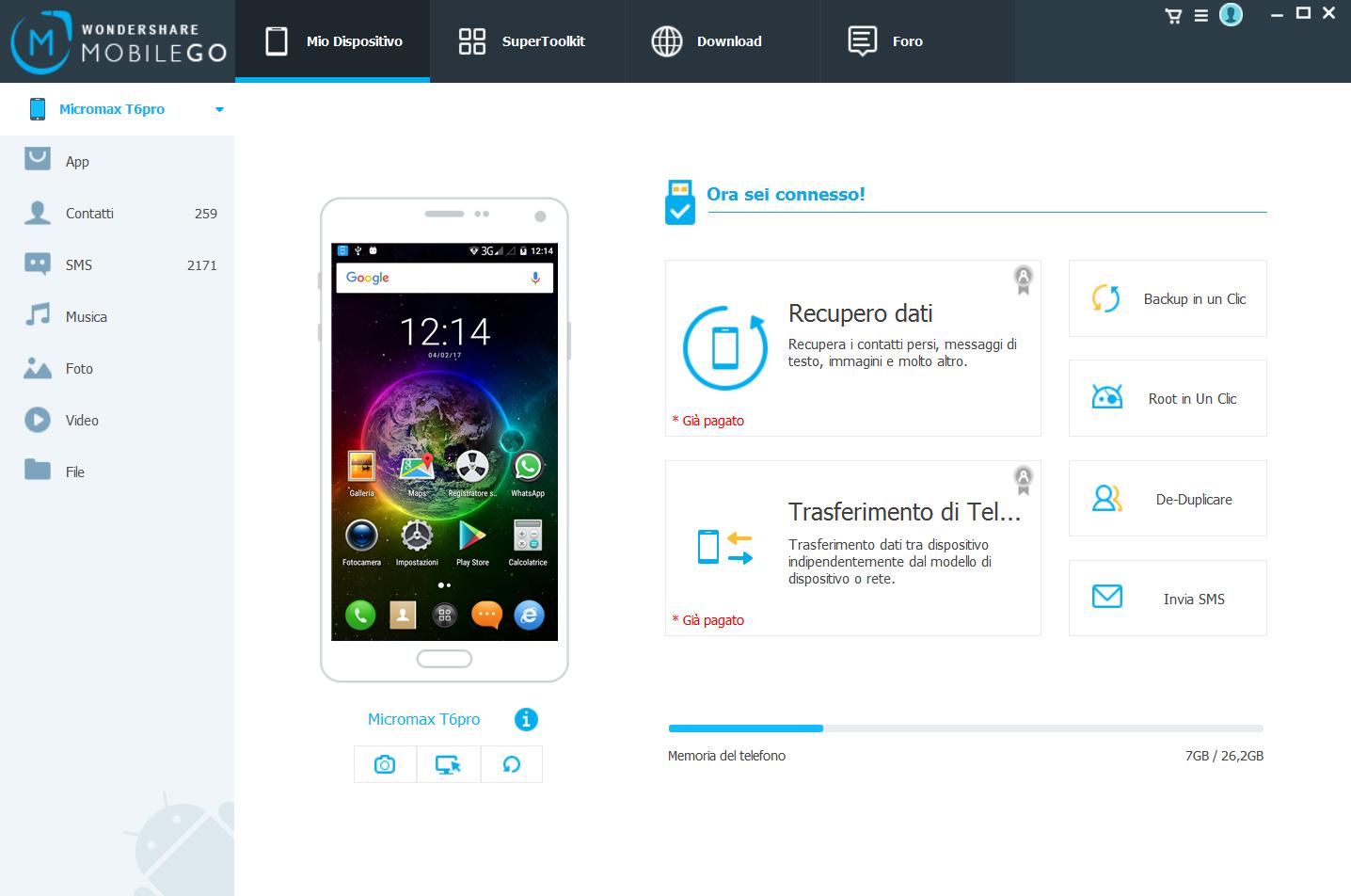 Recuperare file da telefono Android