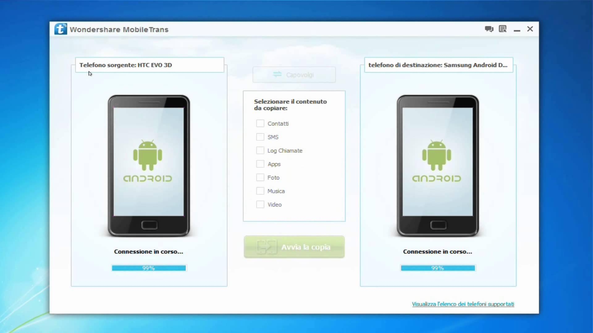 Come trasferire Sms da Android ad Android